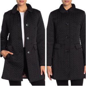 Cute Solid Black Water Resistant jacket